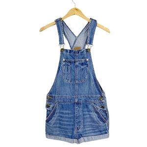 AMERICAN EAGLE OUTFITTERS Denim Short Overalls
